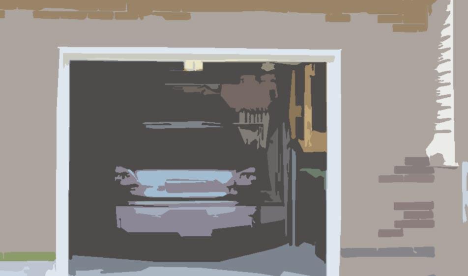 garage f r ihr auto im haus haus r f ferienwohnungen. Black Bedroom Furniture Sets. Home Design Ideas